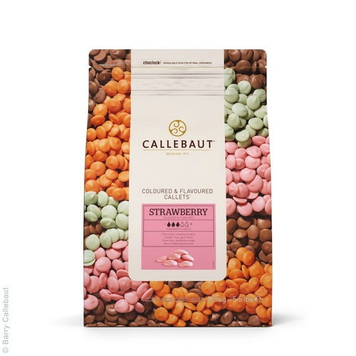 STRAWBERRY CALLETS 2.5KG CALLEBAUT